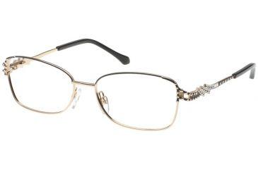 Diva 5375 Eyeglasses - Black-Gold Frame w/ Clear Lenses 5375-C2