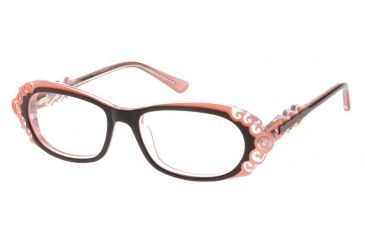 Diva 5398 Eyeglasses - Deep Brown-Peach Frame w/ Clear Lenses 5398-746