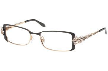 Diva Womens 5332  Eyeglasses - Demi Mat Black Frame w/ Clear Lenses, Size 51-16-123 5332-2E