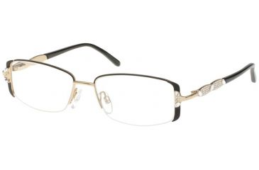 Diva Womens 5334  Eyeglasses - Black-Gold Frame w/ Clear Lenses, Size 51-15-130 5334-2E