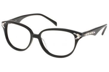 Diva Womens 5363  Eyeglasses - Black Frame w/ Clear Lenses, Size 53-15-141 5363-97A
