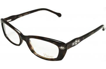 Diva Womens 5364 Eyeglasses - Brown-Sand-Mottled Frame w/ Clear Lenses, Size 51-17-140 5364-AR5