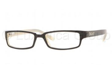 DKNY DY 4561 Eyeglasses Styles Black/Light Horn Frame w/Non-Rx 52 mm Diameter Lenses, 3191-5216, DKNY DY 4561 Eyeglasses Styles Black/Light Horn Frame w/Non-Rx 52 mm Diameter Lenses