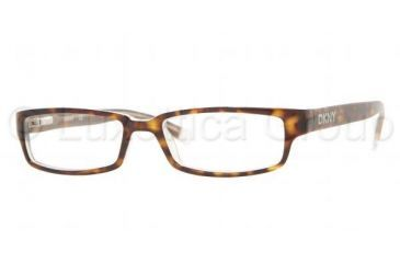 DKNY DY 4561 Eyeglasses Styles Top Havana On Ice Frame w/Non-Rx 52 mm Diameter Lenses, 3020-5216, DKNY DY 4561 Eyeglasses Styles Top Havana On Ice Frame w/Non-Rx 52 mm Diameter Lenses