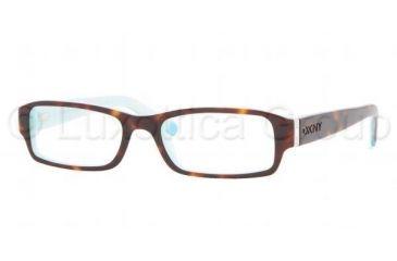 DKNY DY 4585B Eyeglasses Styles Havana-Azure Frame w/Non-Rx 50 mm Diameter Lenses, 3388-5017, DKNY DY 4585B Eyeglasses Styles Havana-Azure Frame w/Non-Rx 50 mm Diameter Lenses