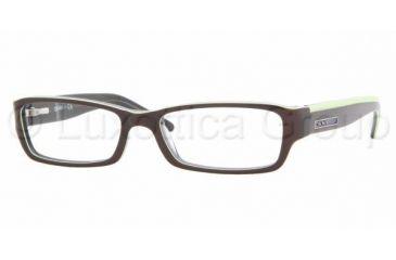 3eb0163b5c DKNY DY4587 SV Prescription Eyeglasses Brown Green Transparent Blue Frame    51 mm Prescription
