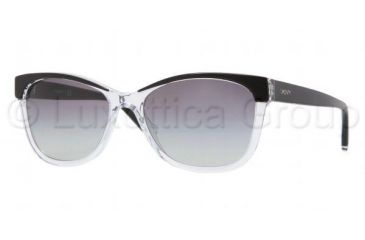 DKNY DY4086 Bifocal Prescription Sunglasses DY4086-313111-5617 - Lens Diameter 56 mm, Frame Color Black Transparent