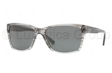 DKNY DY4089 DY4089 Bifocal Prescription Sunglasses DY4089-344987-5817 - Lens Diameter 58 mm, Frame Color Striped Gray