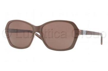 DKNY DY4094 Bifocal Prescription Sunglasses DY4094-357173-5716 - Lens Diameter 57 mm, Frame Color Top Brown on Brown Transparent