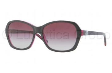 DKNY DY4094 Sunglasses 35734Q-5716 - Top Black on Violet Transparent Frame, Violet Gradient Lenses