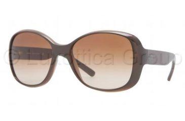 DKNY DY4102 Single Vision Prescription Sunglasses DY4102-358813-5717 - Lens Diameter 57 mm, Frame Color Brown
