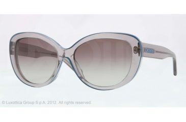DKNY DY4107 Single Vision Prescription Sunglasses DY4107-345711-56 - Lens Diameter 56 mm, Lens Diameter 56 mm, Frame Color Gray