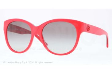 DKNY DY4113 Single Vision Prescription Sunglasses DY4113-363411-57 - Lens Diameter 57 mm, Frame Color Top Red On Transp Red