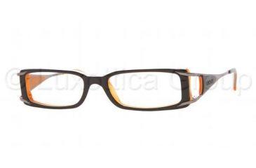 45842e9d62 DKNY DY4556 Eyeglasses Styles - Top Black On Orange Frame w Non-Rx 51