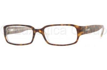 DKNY DY4562 Eyeglasses Styles - Top Havana On Ice Frame w/Non-Rx 51 mm Diameter Lenses, 3020-5117