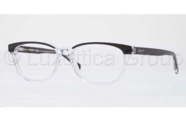 DKNY DY4636 Single Vision Prescription Eyeglasses 3131-5116 - Black Top On Trasparent Frame