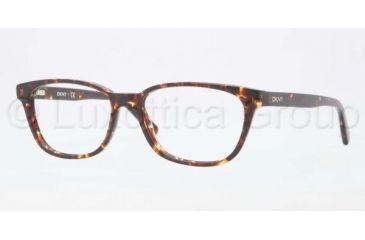 DKNY DY4636 Single Vision Prescription Eyeglasses 3533-5116 - Top Havana/Crystal Frame, Demo Lens Lenses