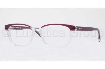 DKNY DY4636 Single Vision Prescription Eyeglasses 3599-5116 - Top Violet On Transparent Frame, Demo Lens Lenses