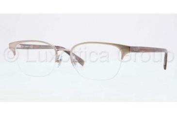 DKNY DY5640 Single Vision Prescription Eyeglasses 1016-5117 - Brushed Light Copper Frame, Demo Lens Lenses