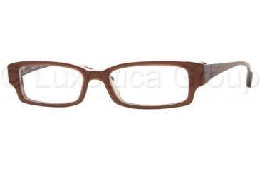 DKNY Eyeglass DY4554 3270-5116 - Light Brown/White/Light Green