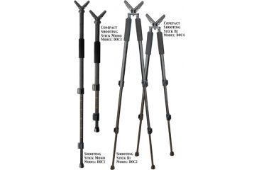 "Do All Outdoors 62"" Dead-On 360 quick action Shooting Stick, BiPod DOC2"