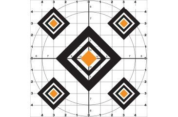 Do All Outdoors Paper Target, 10Pk, Black Diamond, 10x10 PT3