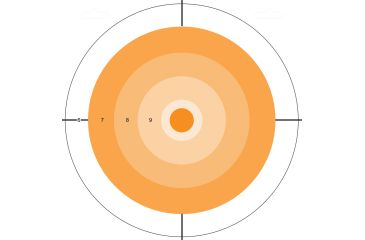 Do All Outdoors Paper Target, 10Pk, Orange Dot, 10x10 PT1