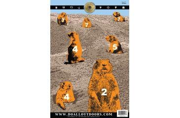 Do All Outdoors Paper Target, 10Pk, Prairie Dog, 12x18 PT7