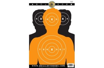 Do All Outdoors Paper Target, 10Pk, Silhouettes, 12x18 PT10