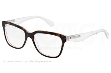Dolce&Gabbana 3 LAYERS DG3193 Progressive Prescription Eyeglasses 2795-52 - Havana/pearl White/cryst Frame