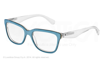 Dolce&Gabbana 3 LAYERS DG3193 Progressive Prescription Eyeglasses 2796-52 - Azure/gold/crystal Frame
