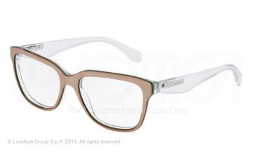 Dolce&Gabbana 3 LAYERS DG3193 Progressive Prescription Eyeglasses 2797-52 - Sand/pearl Green/cryst Frame