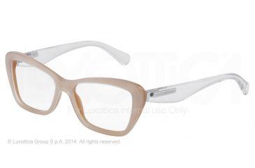 Dolce&Gabbana 3 LAYERS DG3194 Single Vision Prescription Eyeglasses 2773-52 - Top Crystal On Pearl Sand Frame