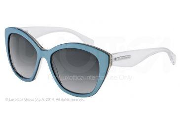 Dolce&Gabbana 3 LAYERS DG4220 Single Vision Prescription Sunglasses DG4220-27968G-55 - Lens Diameter 55 mm, Frame Color Azure/gold/cryst