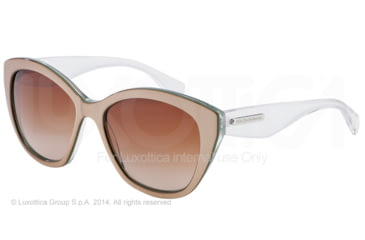 Dolce&Gabbana 3 LAYERS DG4220 Single Vision Prescription Sunglasses DG4220-279713-55 - Lens Diameter 55 mm, Frame Color Sand/pearl Green/cryst