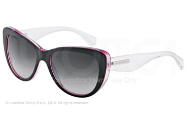 Dolce&Gabbana 3 LAYERS DG4221 Sunglasses 27948G-55 - Black/peral Fuxia/cryst Frame, Grey Gradient Lenses
