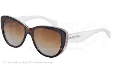 Dolce&Gabbana 3 LAYERS DG4221 Sunglasses 2795T5-55 - Havana/pearl White/cryst Frame, Polar Brown Gradient Lenses