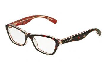 0438d260d351 Dolce Gabbana ALMOND FLOWERS DG3202 Eyeglass Frames 2986-47 - Rose flowers  On Black Frame