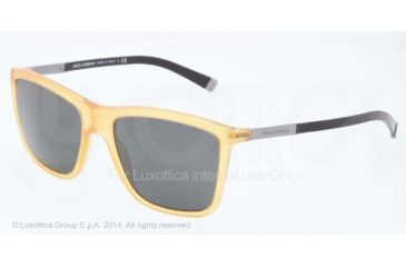Dolce&Gabbana BASALTO DG4210 Single Vision Prescription Sunglasses DG4210-652-87-55 - Lens Diameter 55 mm, Frame Color Honey