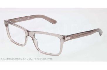 Dolce&Gabbana BLOCK HINGE DG3157 Progressive Prescription Eyeglasses 2696-55 - Transparent Gray Frame, Demo Lens Lenses