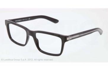 Dolce&Gabbana BLOCK HINGE DG3157 Progressive Prescription Eyeglasses 675-53 - Black Frame, Demo Lens Lenses