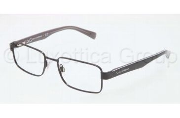 Dolce&Gabbana CONTRAST DG1238P Progressive Prescription Eyeglasses 1169-5217 - Black Frame, Demo Lens Lenses