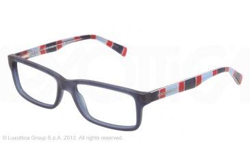 Dolce&Gabbana CONTRAST DG3148P Single Vision Prescription Eyeglasses 2757-53 - Matte Blue Frame