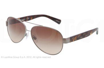 Dolce&Gabbana D&G ALL OVER DG2118P Single Vision Prescription Sunglasses DG2118P-119613-60 - Lens Diameter 60 mm, Lens Diameter 60 mm, Frame Color Gunmetal