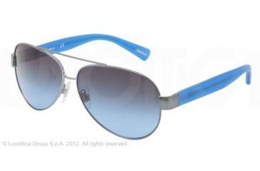 Dolce&Gabbana D&G ALL OVER DG2118P Single Vision Prescription Sunglasses DG2118P-12418F-60 - Lens Diameter 60 mm, Lens Diameter 60 mm, Frame Color Blue Navy