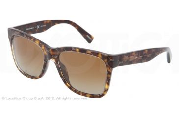 Dolce&Gabbana D&G ALL OVER DG4158P Progressive Prescription Sunglasses DG4158P-2660T5-55 - Lens Diameter 55 mm, Lens Diameter 55 mm, Frame Color All Over Hazelnut On Havana