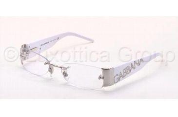 Dolce&Gabbana DG1102 Progressive Eyeglasses - 062 Silver Frame / 51 mm Prescription Lenses, 062-5116