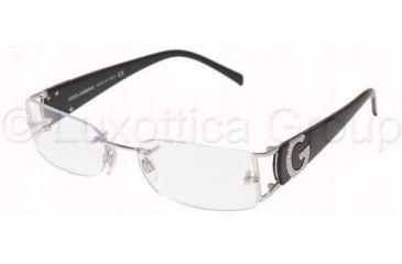 Dolce&Gabbana DG1148B Progressive Eyeglasses - 061 Silver Frame / 52 mm Prescription Lenses, 061-5217