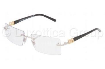75d4a6cee121 Dolce Gabbana DG 1184 Eyeglasses Styles - Silver Frame w Non-Rx 51 mm  Diameter