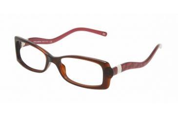Dolce&Gabbana DG 3078 Eyeglasses Styles - Brown Frame w/Non-Rx 52 mm Diameter Lenses, 1540-5216